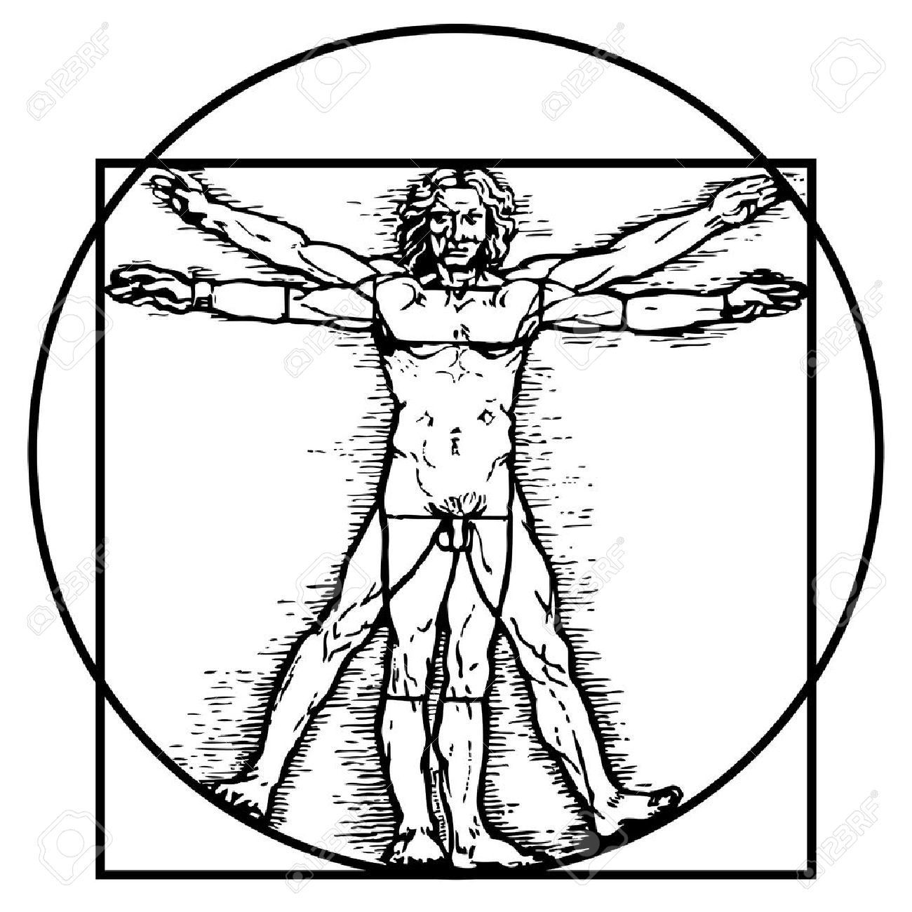 The Vitruvian man - 10066136
