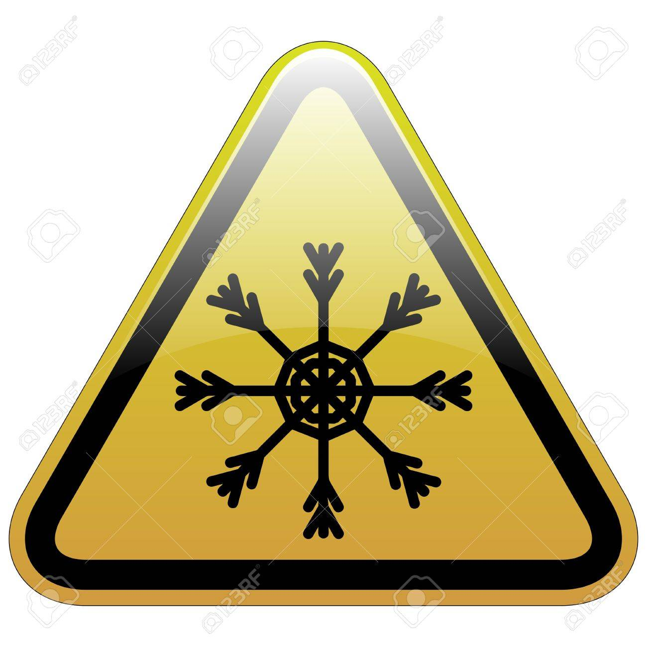 Warning sign of snow Stock Vector - 12422320