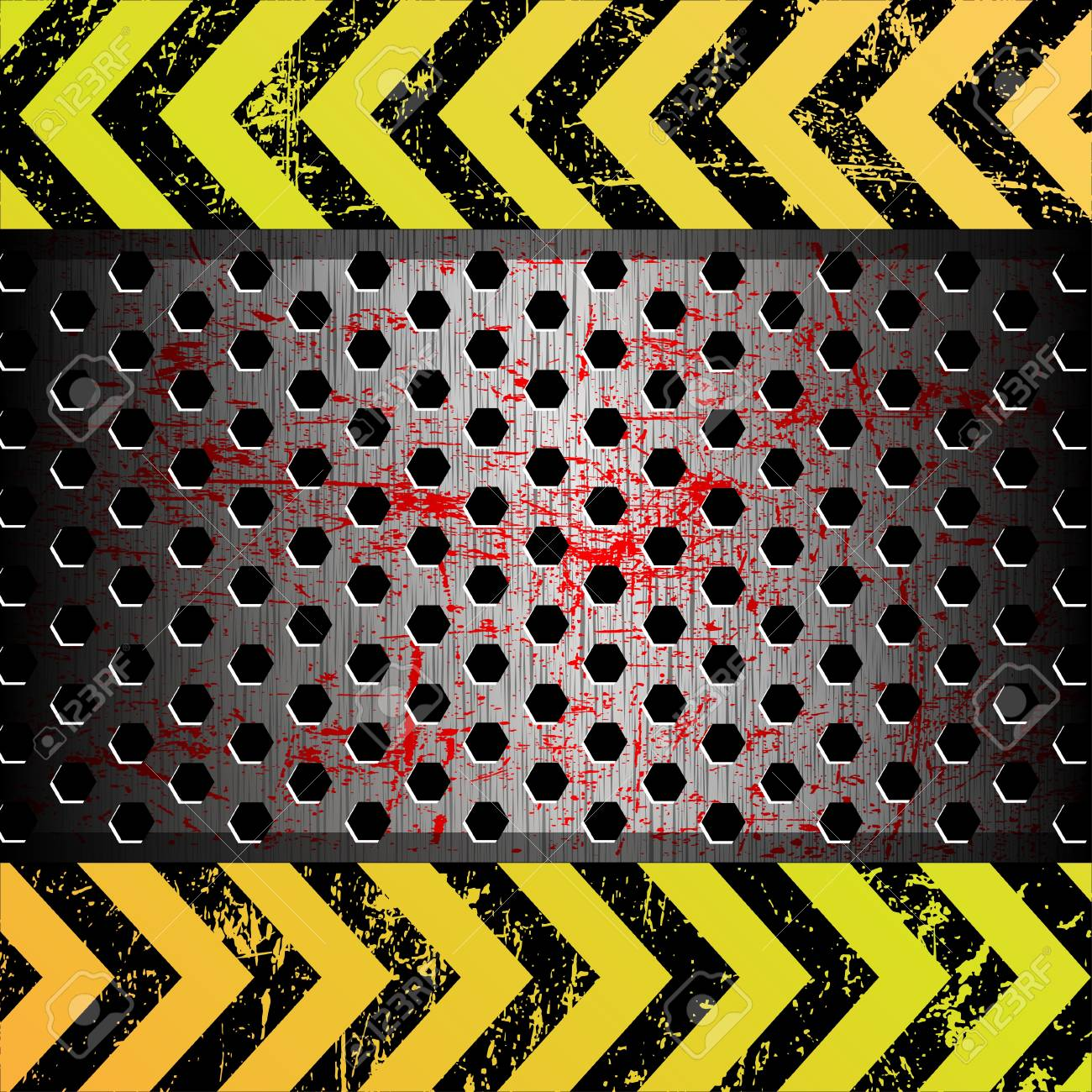 Metal background as a warning Stock Photo - 12422323