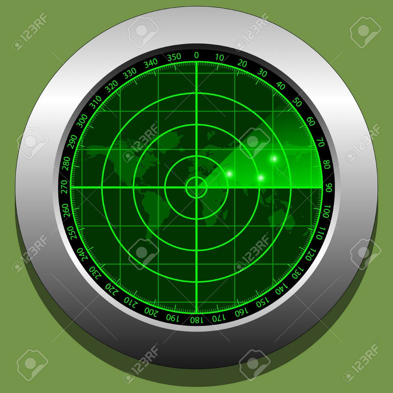 Radar screen Stock Vector - 16567748