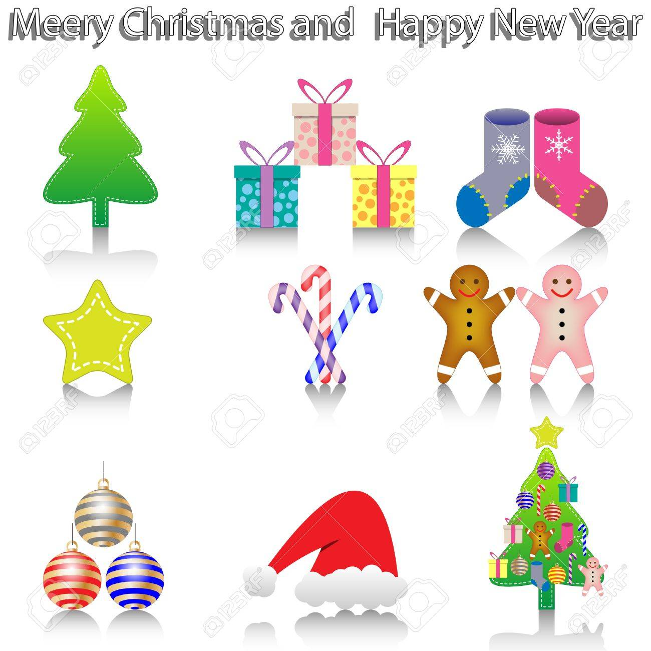 New Year Icons Stock Photo - 16724670