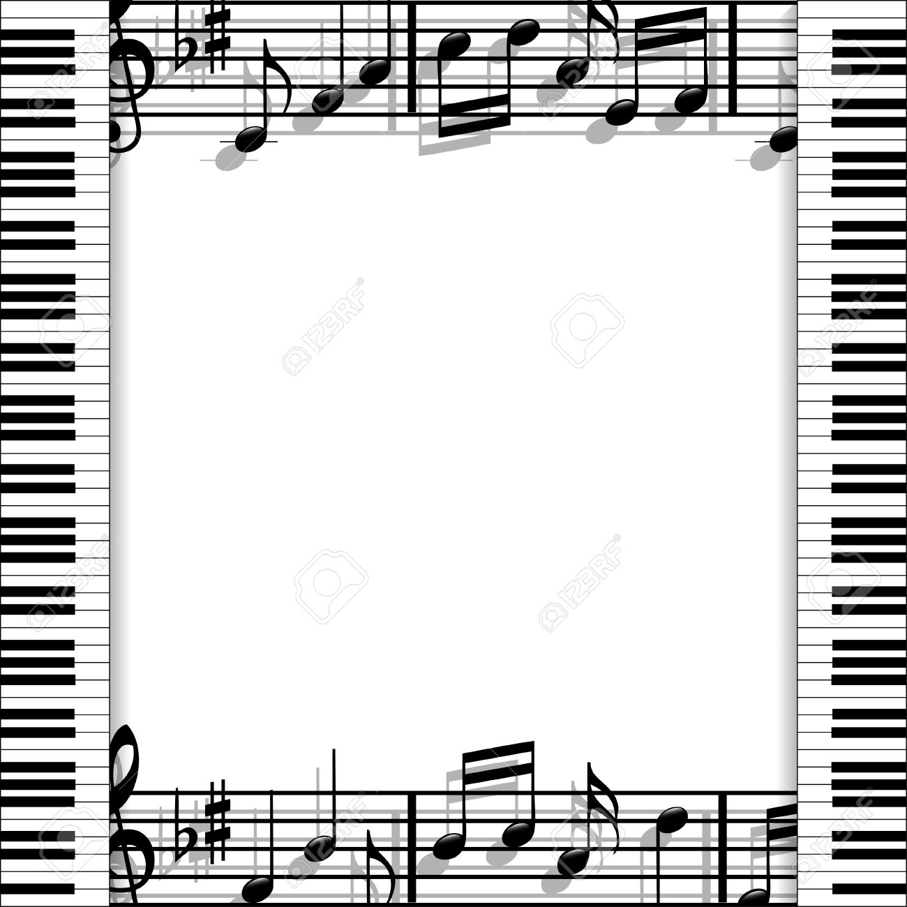 Musical Frame Royalty Free Cliparts, Vectors, And Stock Illustration ...