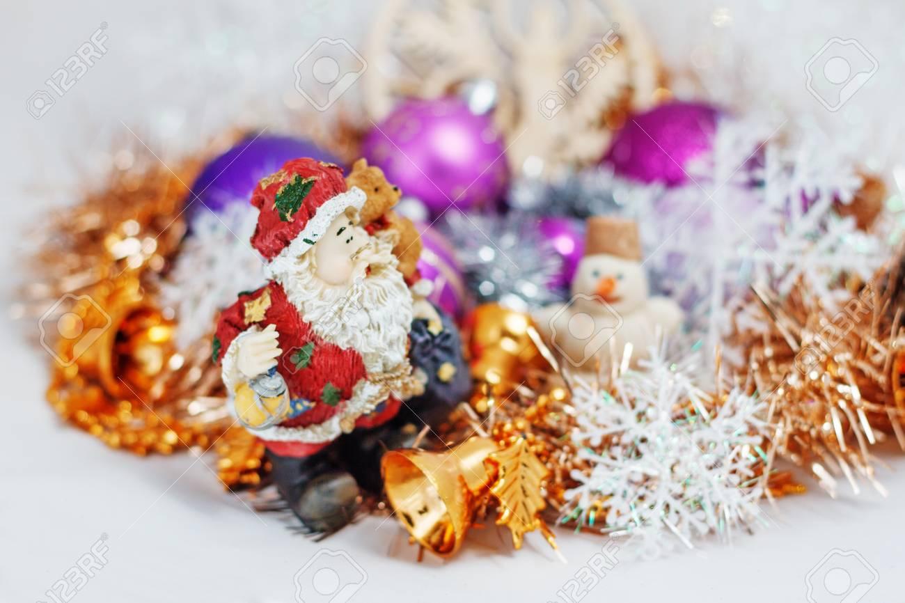Weihnachtsdeko Lametta.Stock Photo