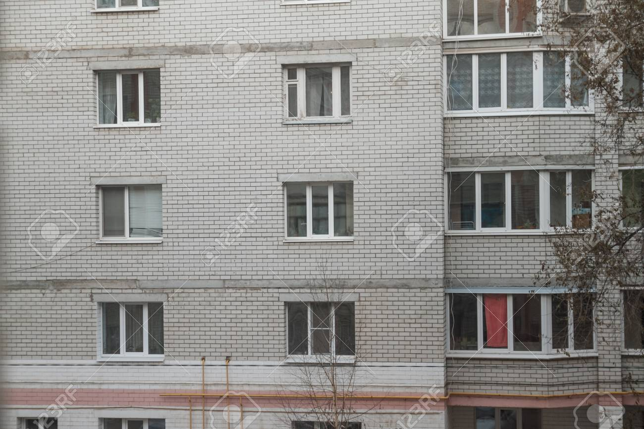 Facades of houses, types of multiple windows