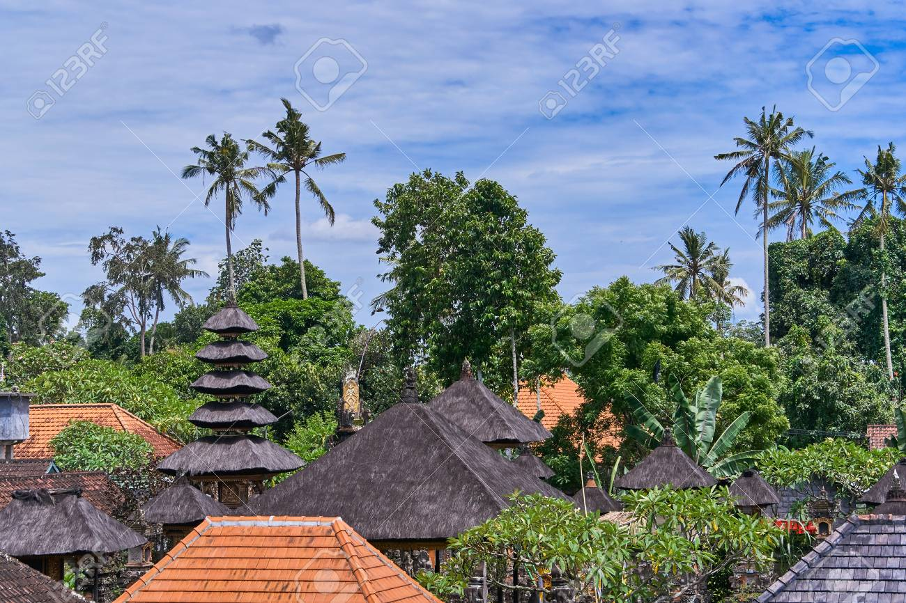 Beautiful View Of Ubud City From The Roof On Bali Island Indonesia