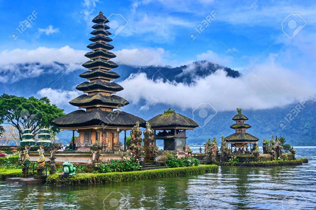 Pura Ulun Danu Beratan Temple On Bali Island Indonesia Stock Photo