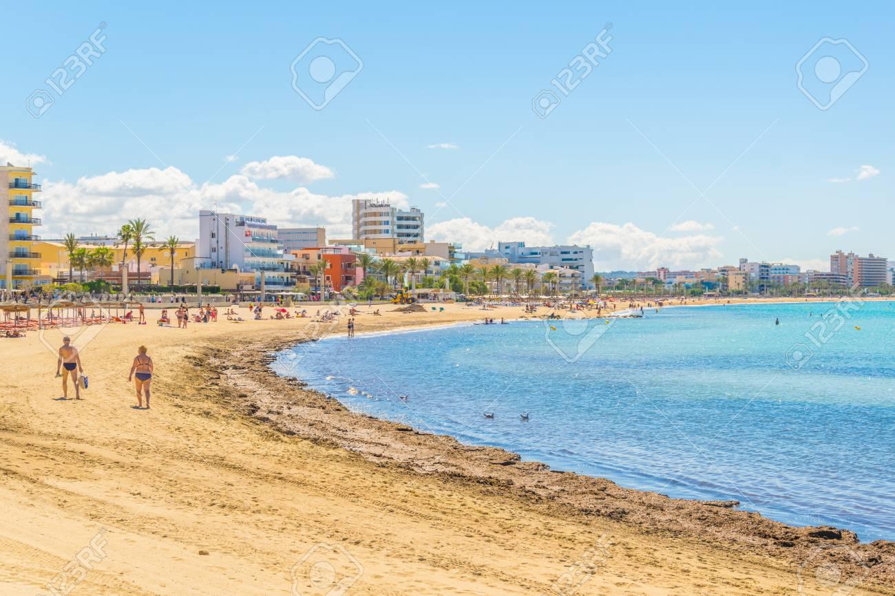Playa De Palma Beach At Palma De Mallorca Spain