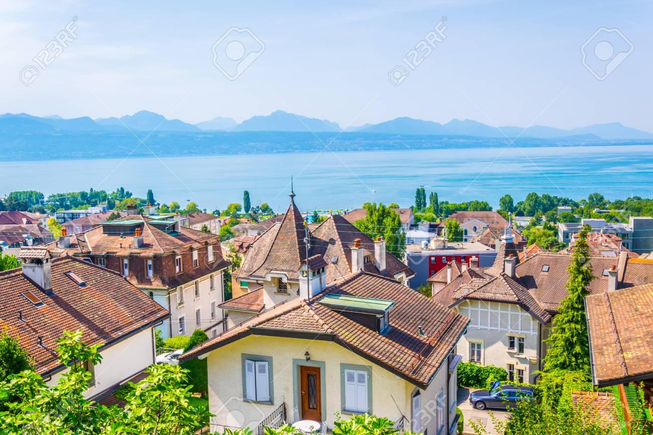 Panorama of Lausanne, Switzerland - 117281072