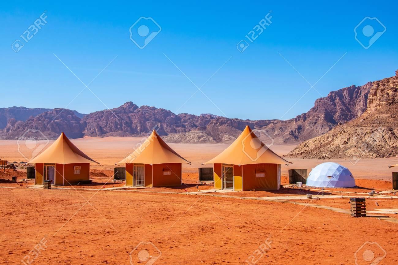 Luxurious tourist camping at Wadi Rum, Jordan - 118595248