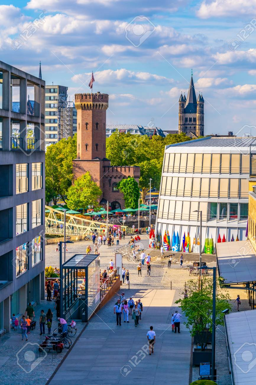 Cologne Germany August 11 2018 People Are Passing Between