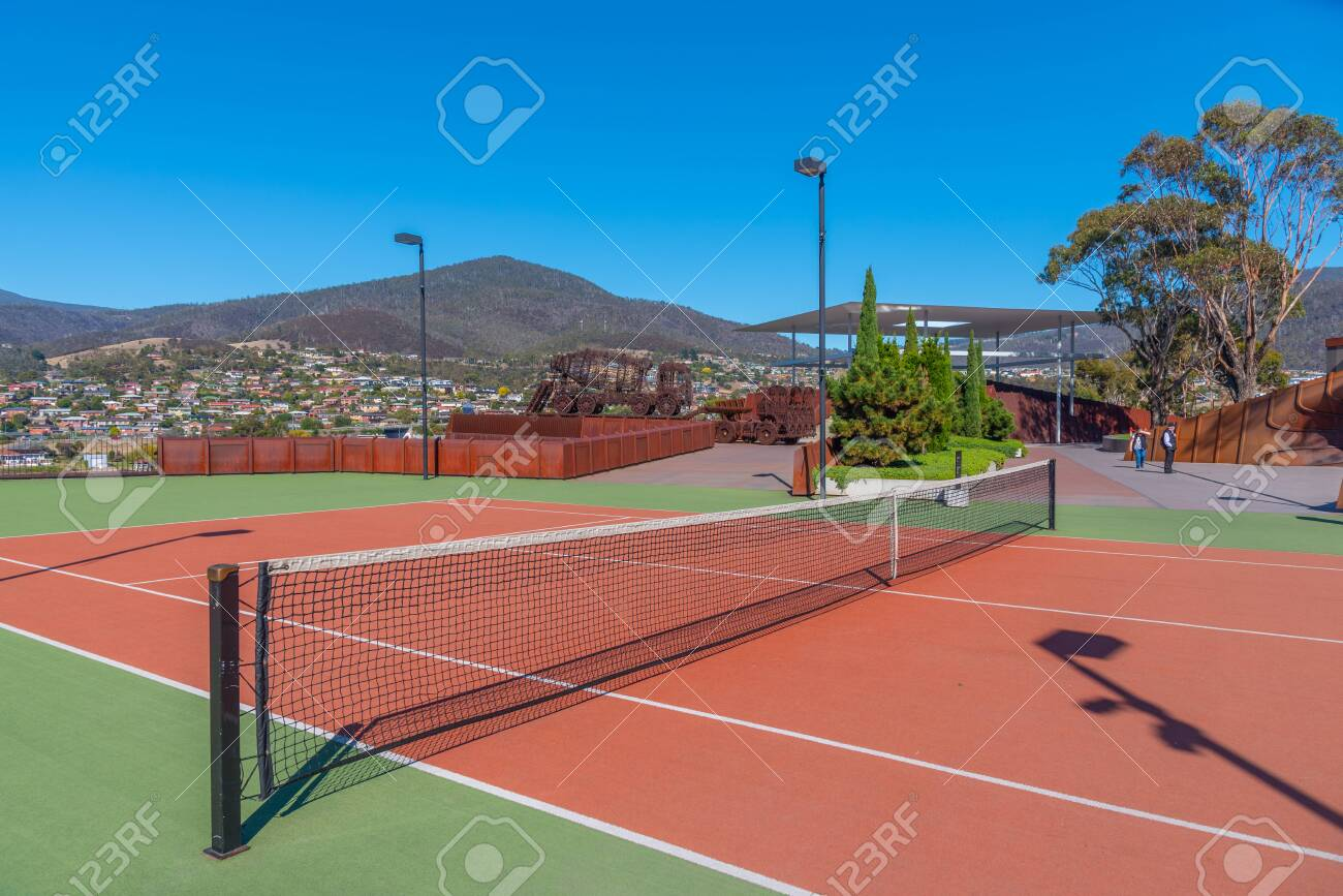 Tennis Court At Mona A Museum Of Old An New Art In Hobart Australia Foto Royalty Free Gravuras Imagens E Banco De Fotografias Image 148933859