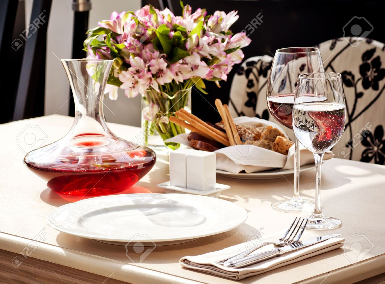 Fancy restaurant table setting - Fine Restaurant Dinner Table Place Setting Stock Photo 11708665