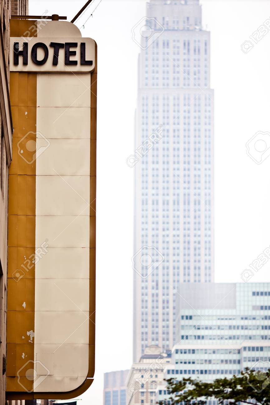 Blank Hotel sign in New York Stock Photo - 11708756