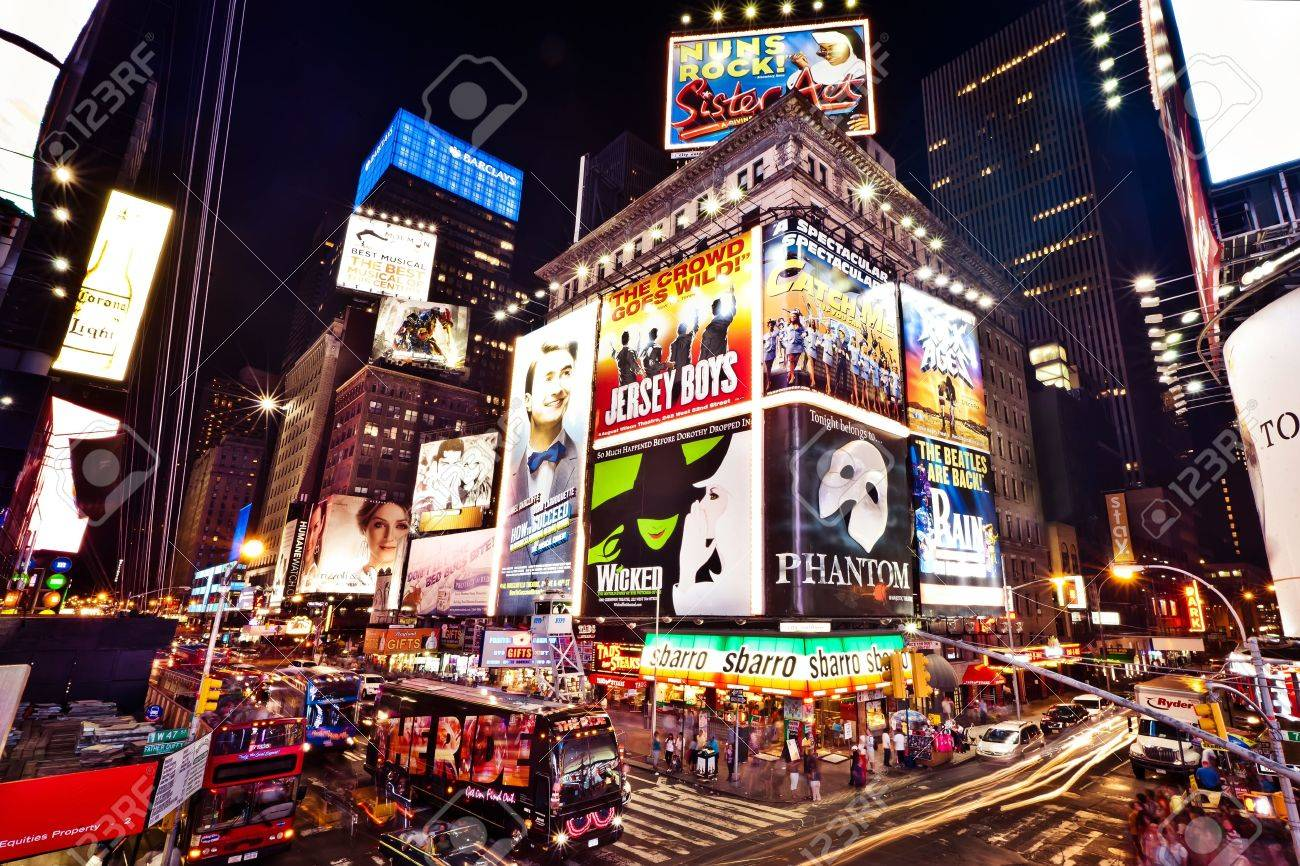 NEW YORK CITY - JULY 2: Times Square featured with Broadway Theaters and animated LED signs is a symbol of New York City and the United States, July 2, 2011 in Manhattan, New York City. Stock Photo - 12059638
