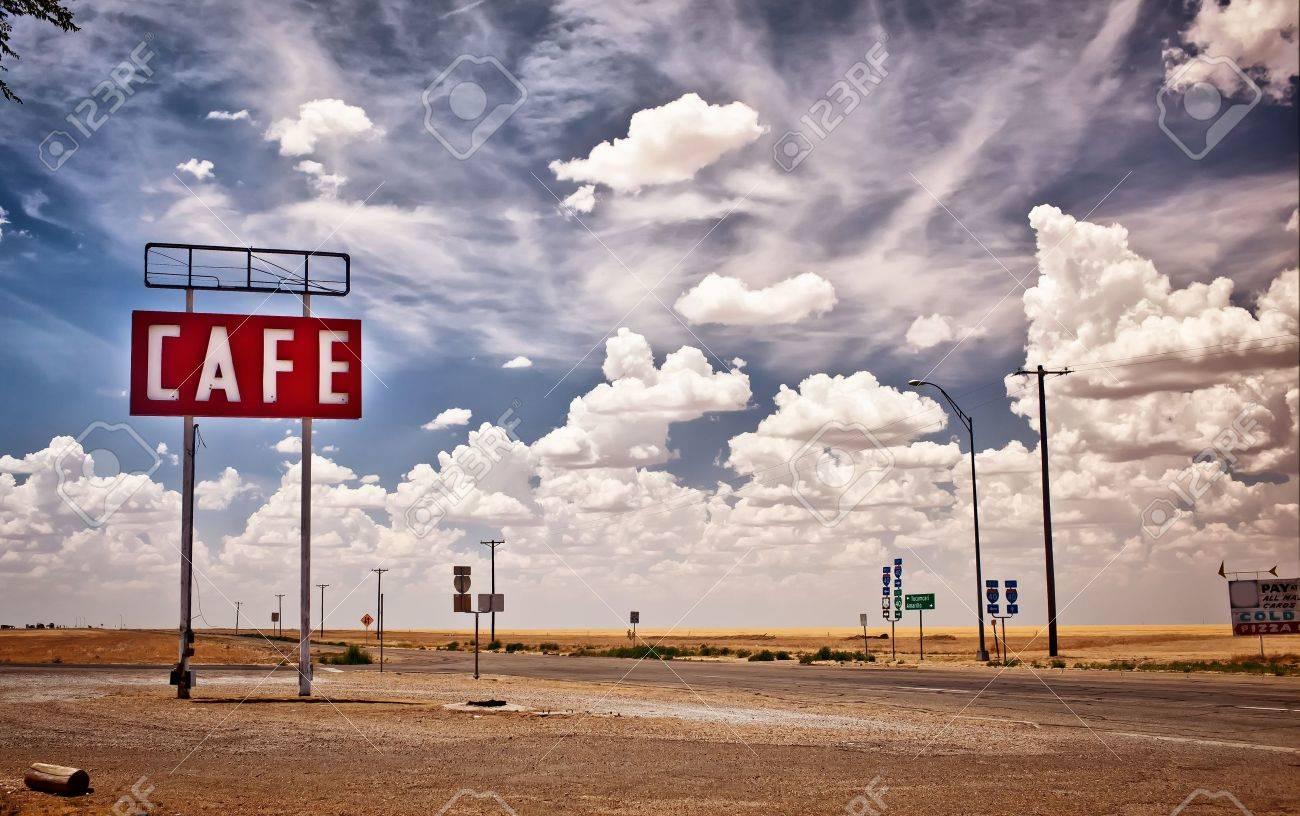 テキサスの歴史的なルート 66 沿...