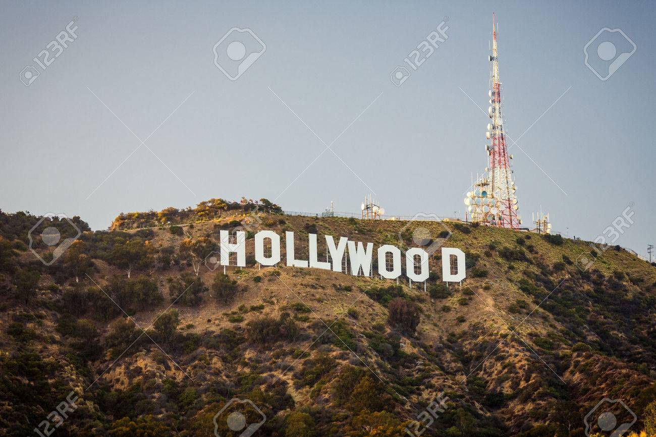 Los Angeles Usa July 18 View Of Hollywood Sign On July 18