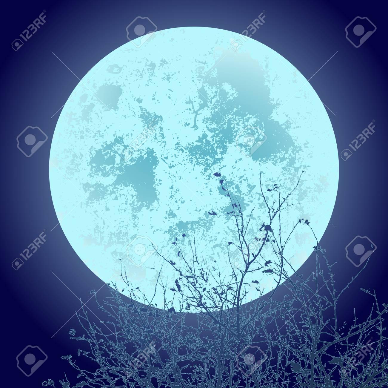 月面の空イラスト クリップ アートの背景のツリーのイラスト素材ベクタ