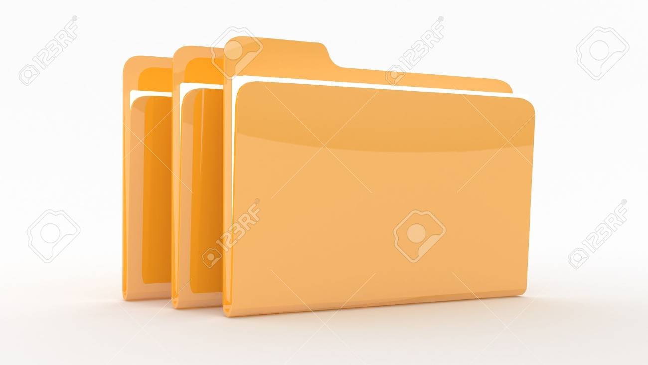 Folders witFolders with filesh files on wite background Stock Photo - 10767568