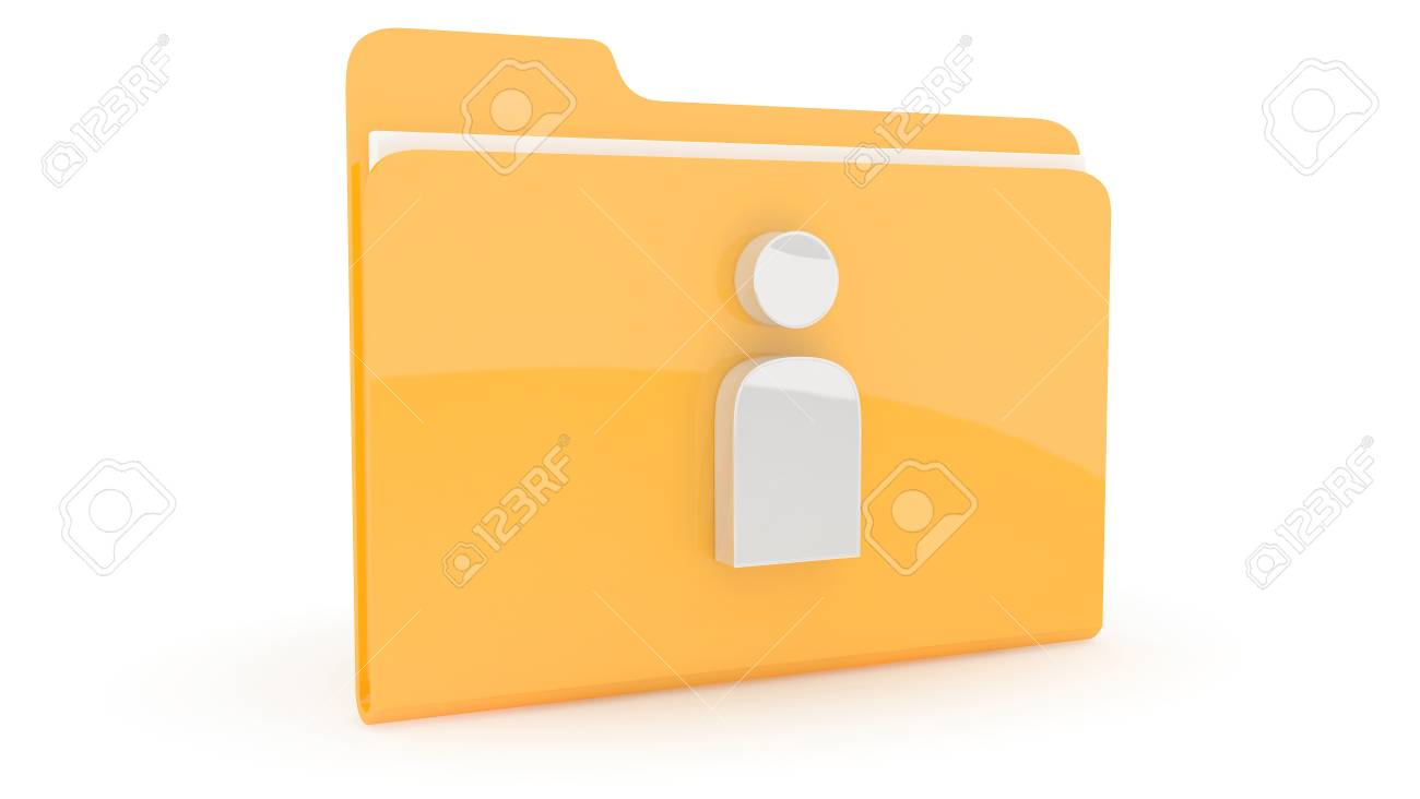 Folder with content icon on wite background Stock Photo - 10767555