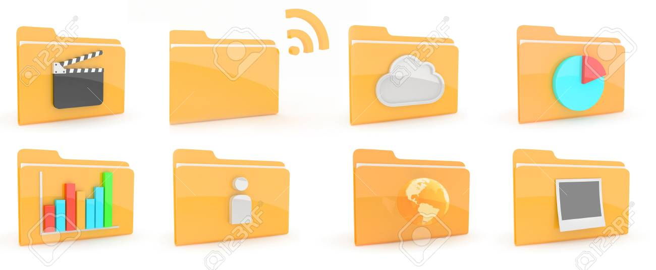 Folders Icon Stock Photo - 10797158