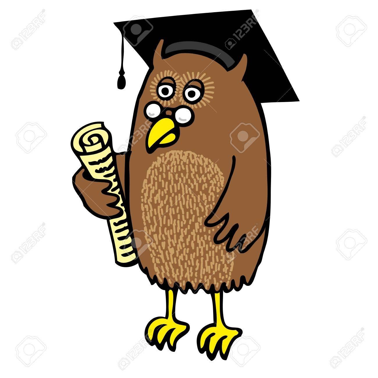 Graduation Owl Stock Vector - 12044173