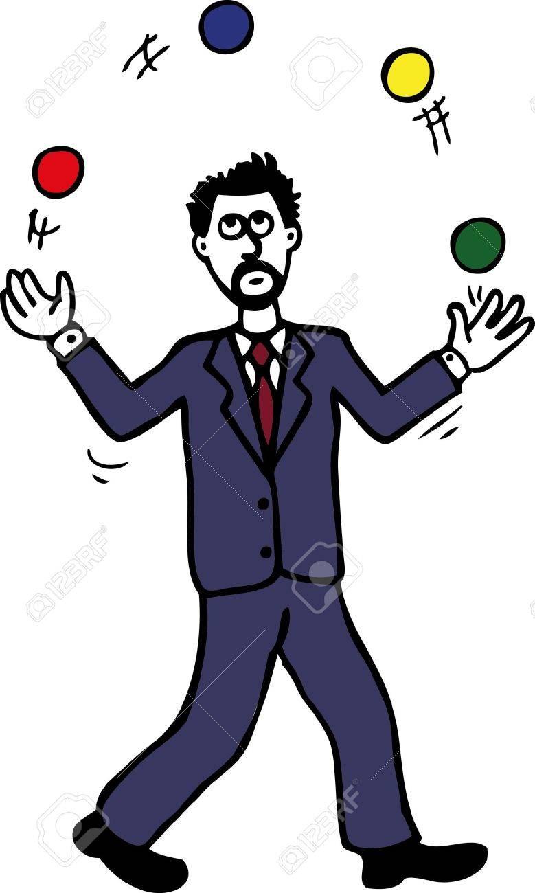 Juggling man Stock Vector - 18314456