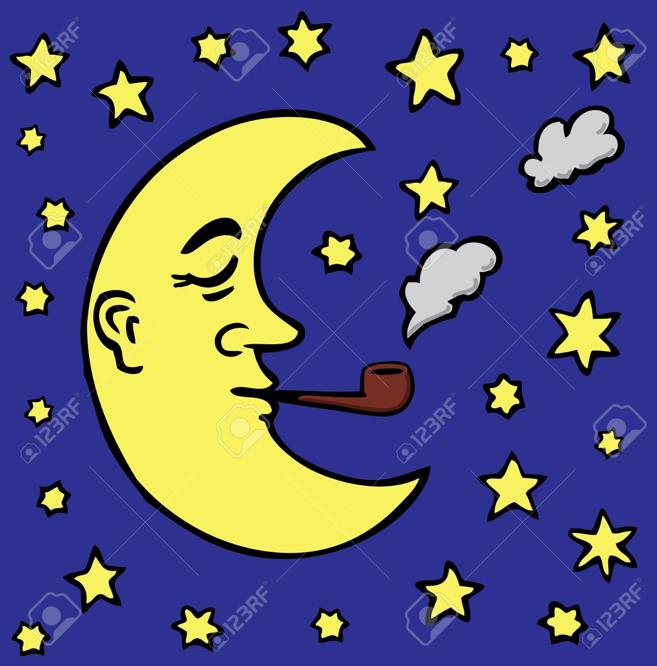 Cartoon moon Stock Vector - 18319649