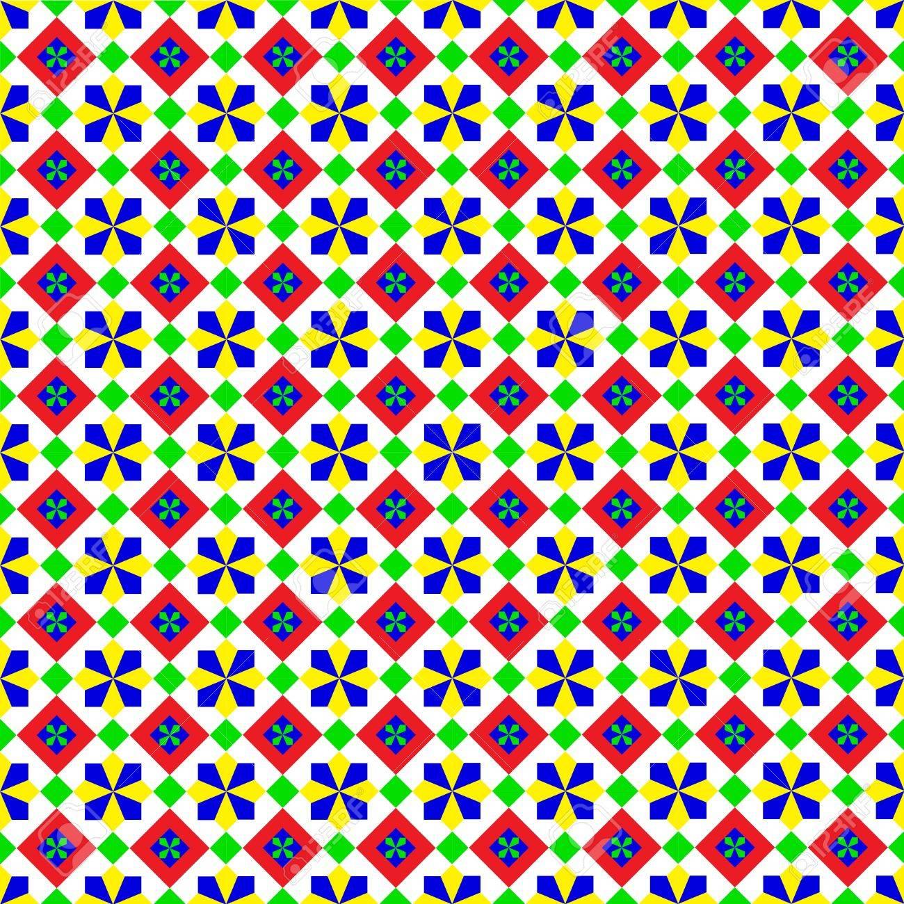 Summery Geometric Pattern Stock Vector - 19473168