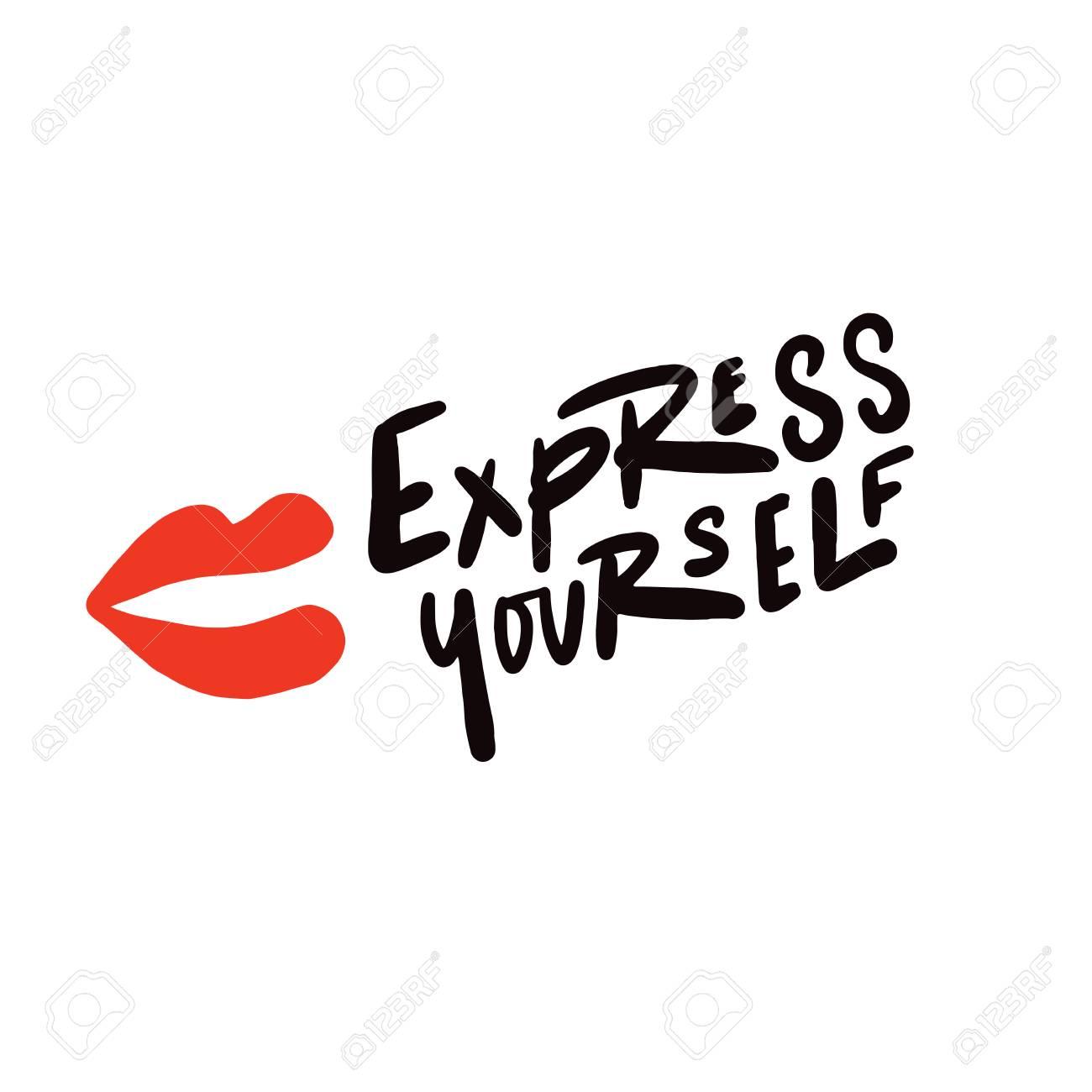Express yourself. Hand written lettering. Vector design. - 116616732
