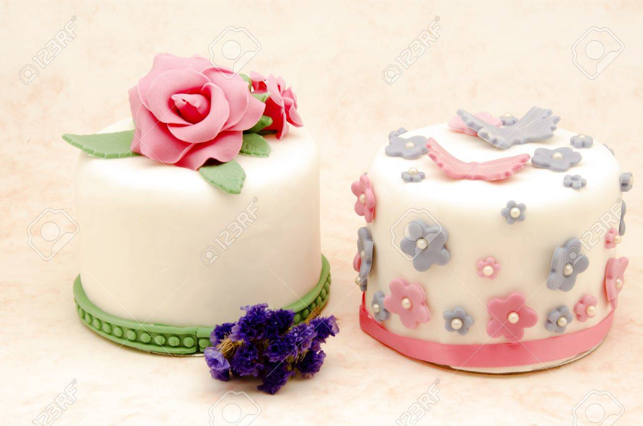 Cake Decorated With Fondant Stock Photo Picture And Royalty Free