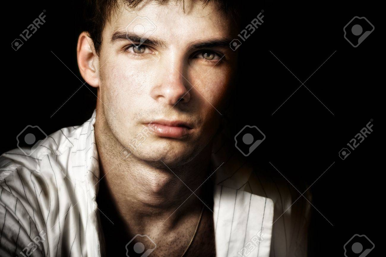 One handsome masculine male with nice eyes Stock Photo - 5303308