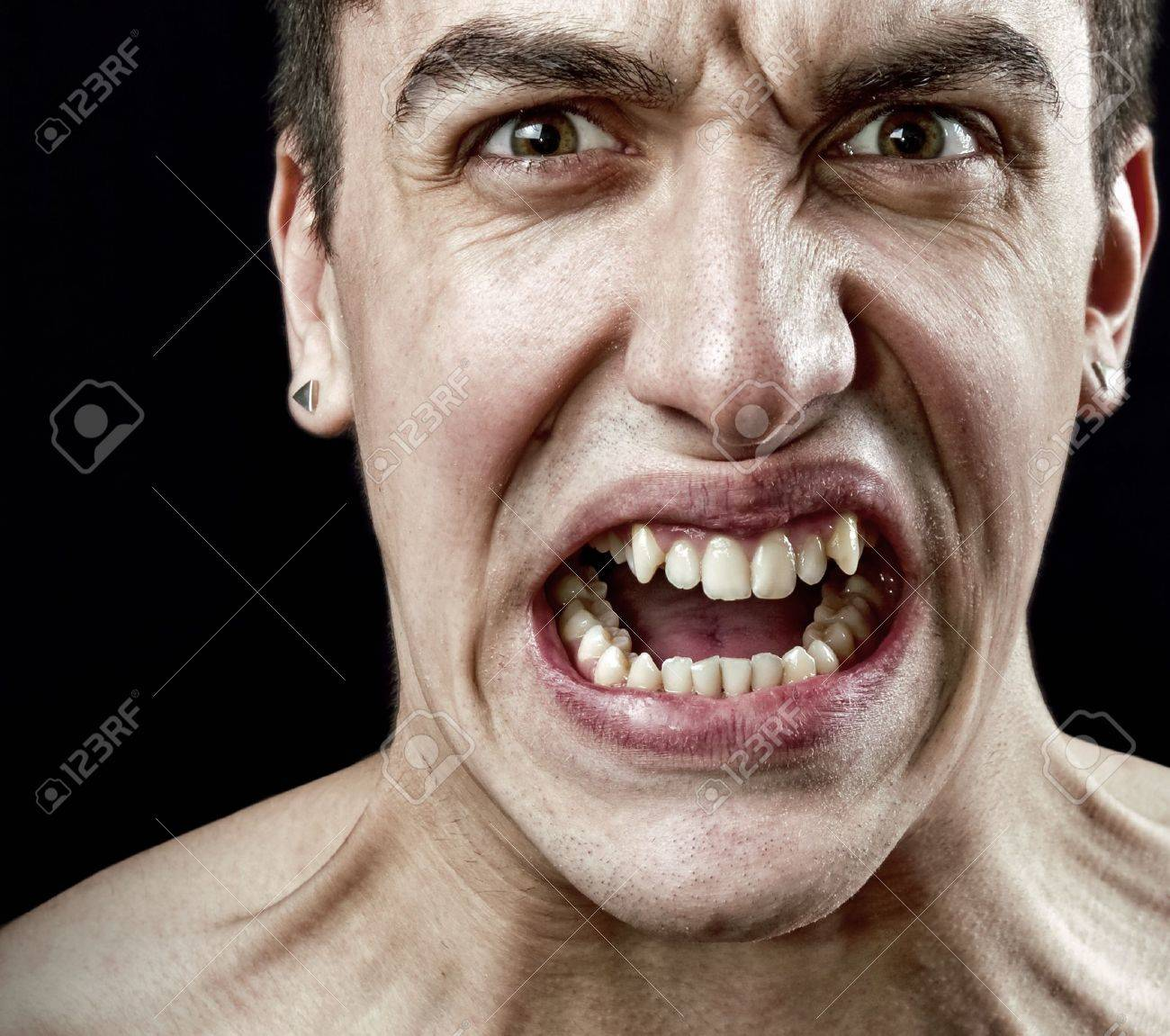 Grimace face clip art stock photo woman pulls a face in upset - To Grimace Stress Concept Grimace Of Angry Furious Stressed Man