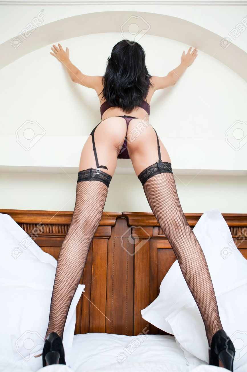 Woman in stockings with sexy ass and long legs Stock Photo - 11130980