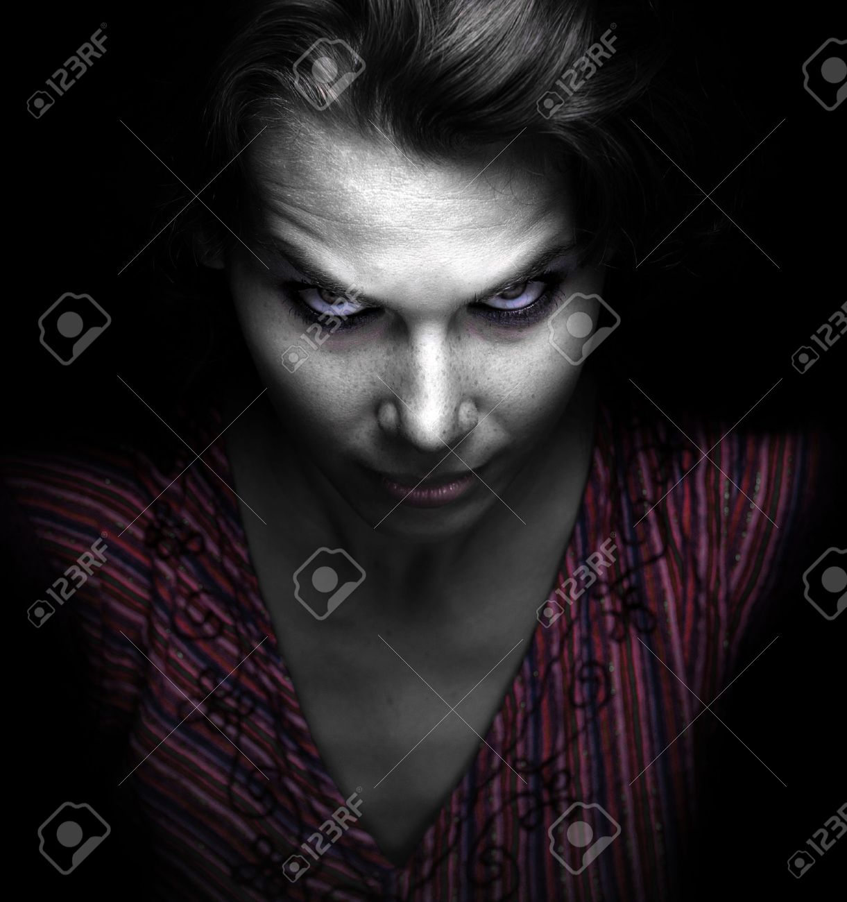 Scary spooky evil woman in the dark Stock Photo - 45393300