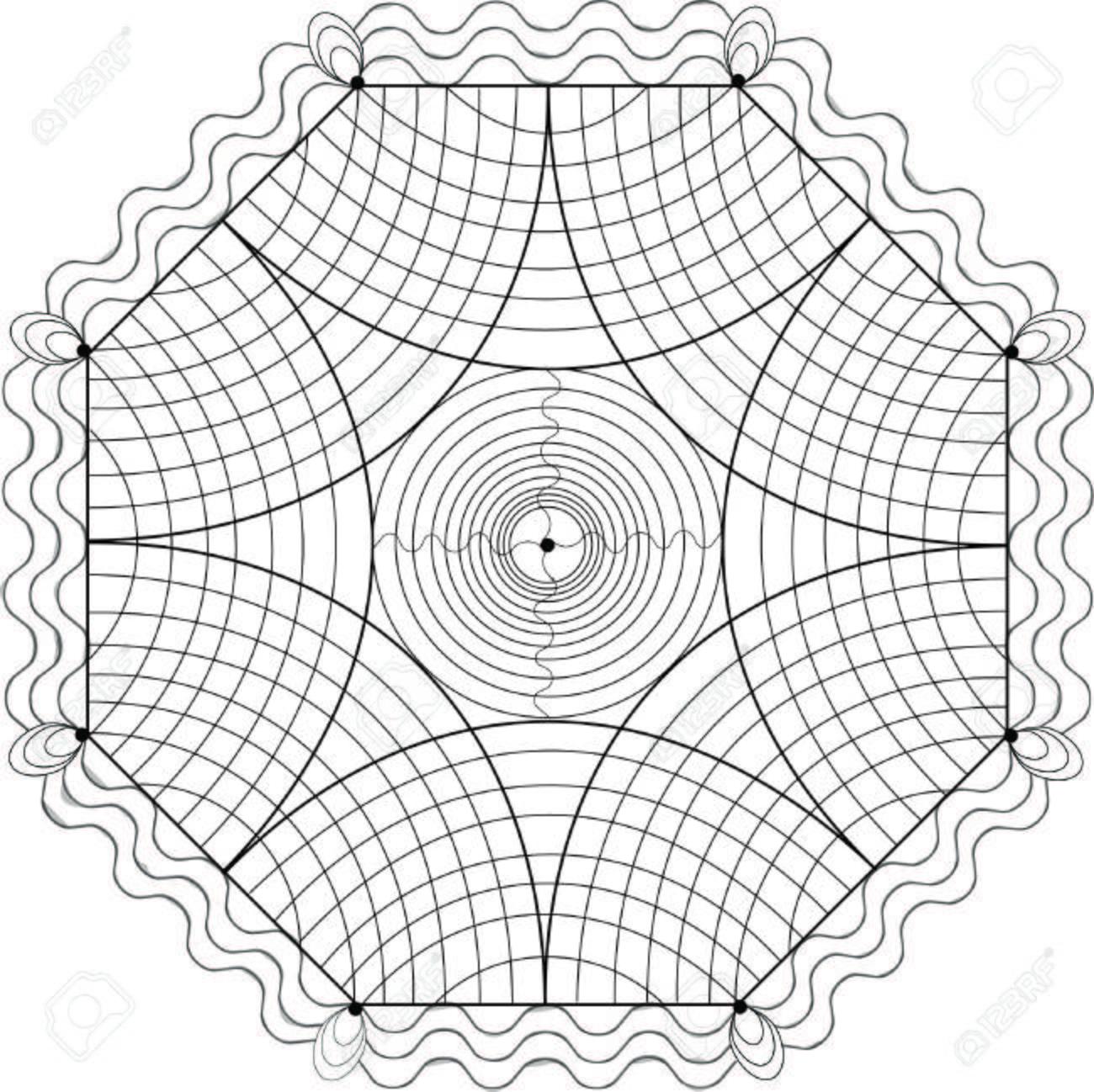 Geométrica Ejemplo De Libro Para Colorear Ilustraciones Vectoriales ...