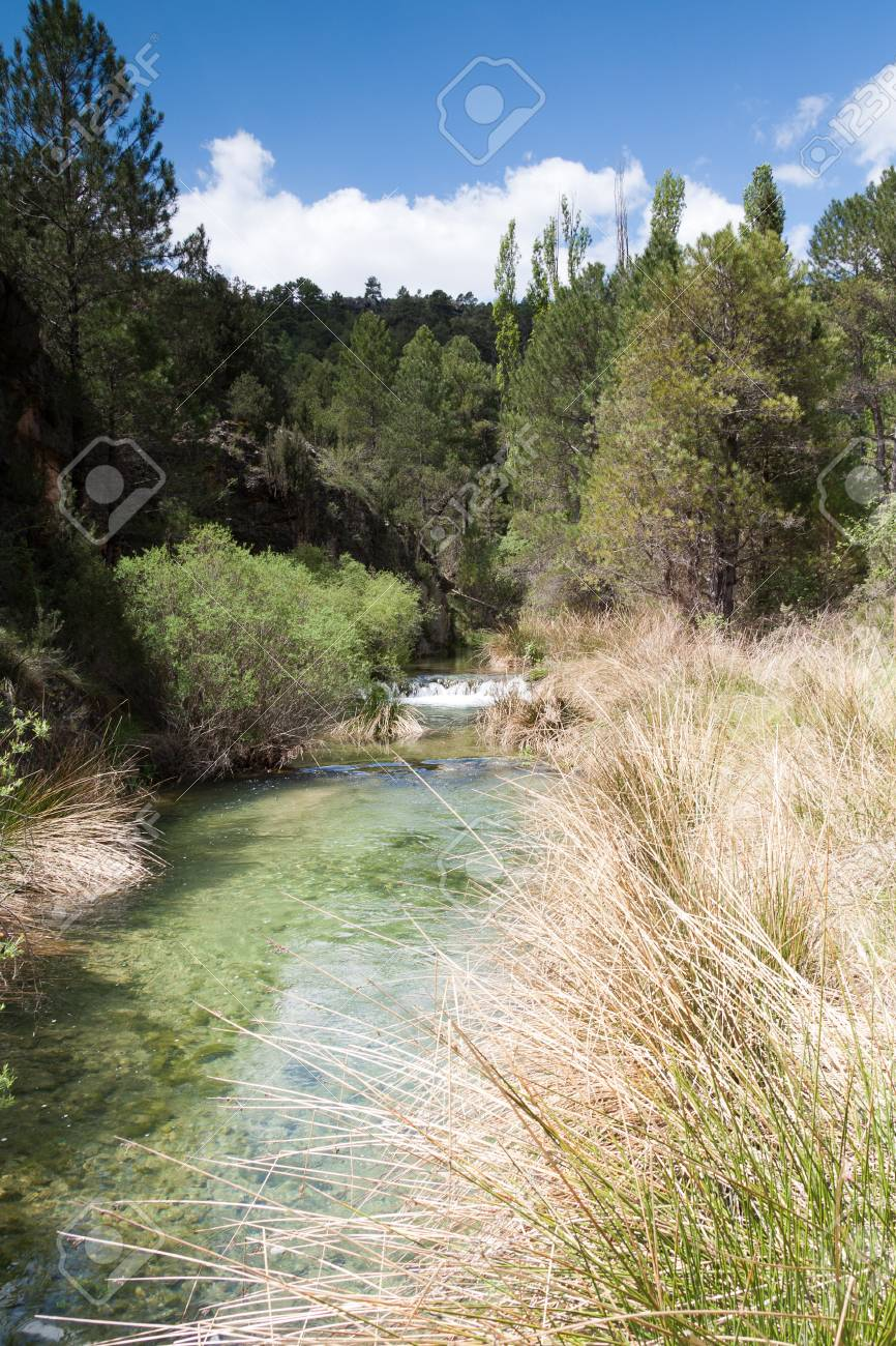 A waterfall in a clean and cold water river Stock Photo - 14599473