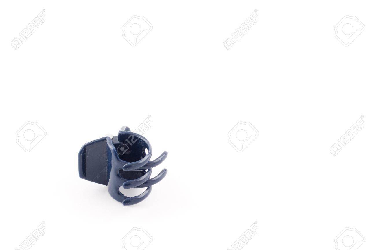 One blue hair clip Stock Photo - 14992241