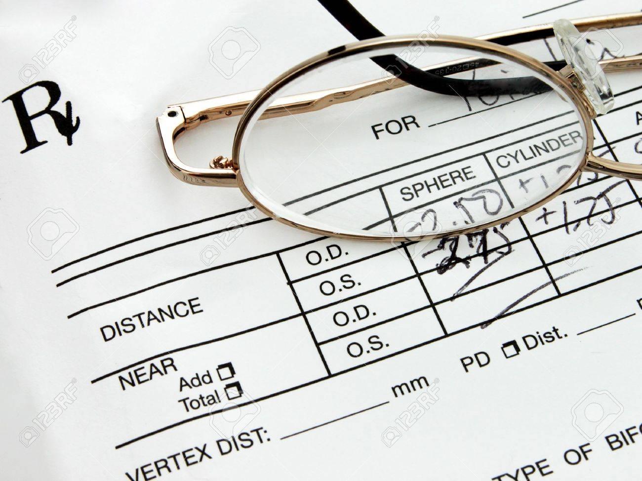 881068270c Eyeglass Prescription Stock Photo - 3764693