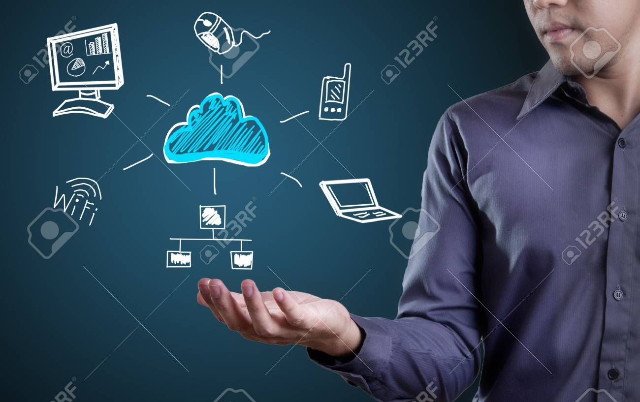 Cloud computing network diagram Stock Photo - 22931963