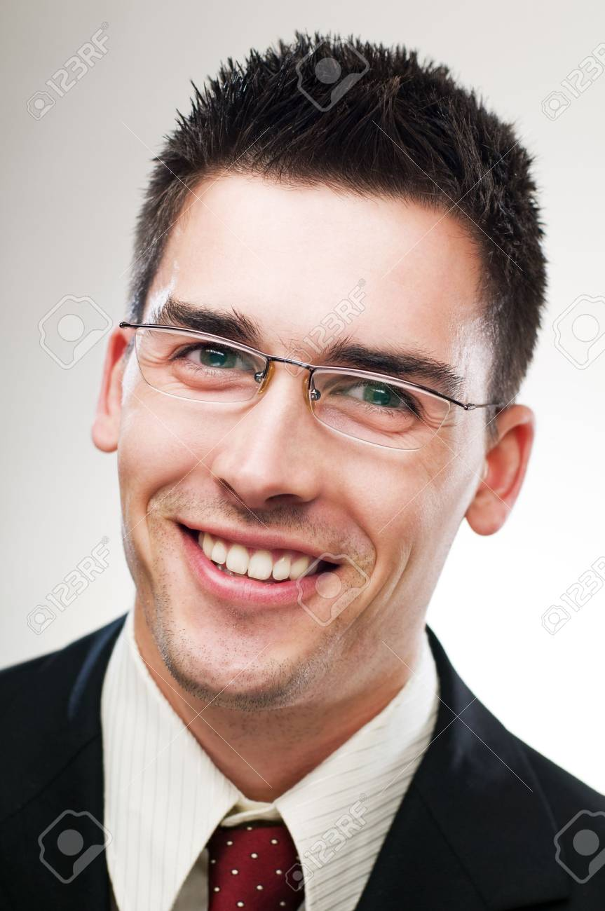 young happy business man close up portrait Stock Photo - 4634830