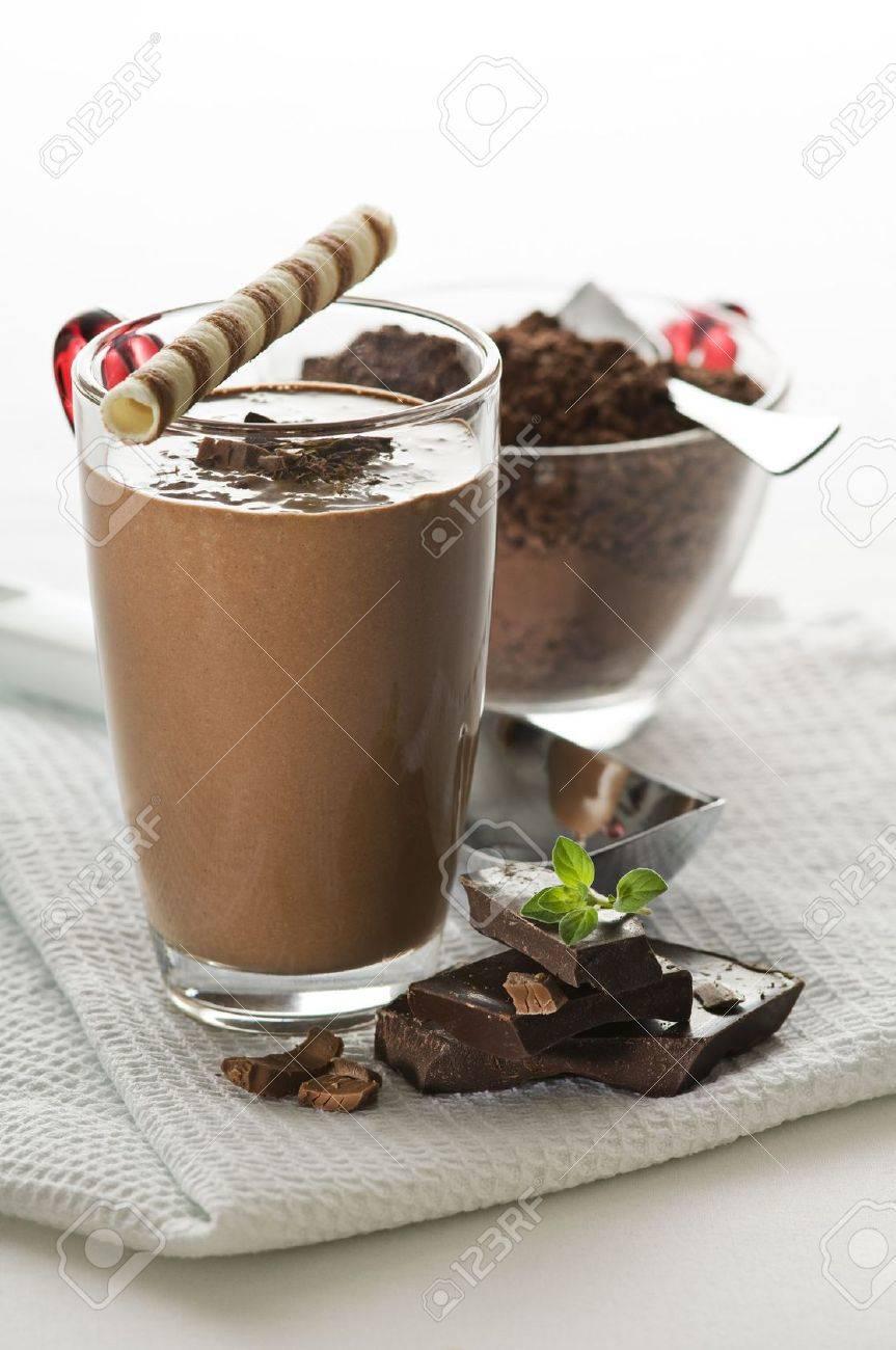Fresh chocolate milk shake close up shoot Stock Photo - 7214592