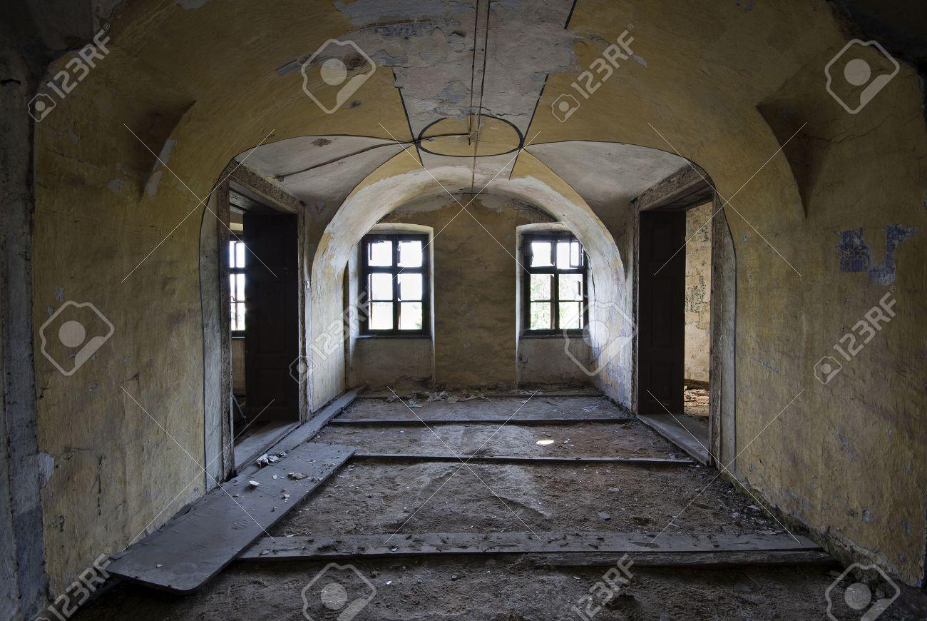 Vieille Maison Abandonnee Sombre Tournage Interieur Millesime Banque