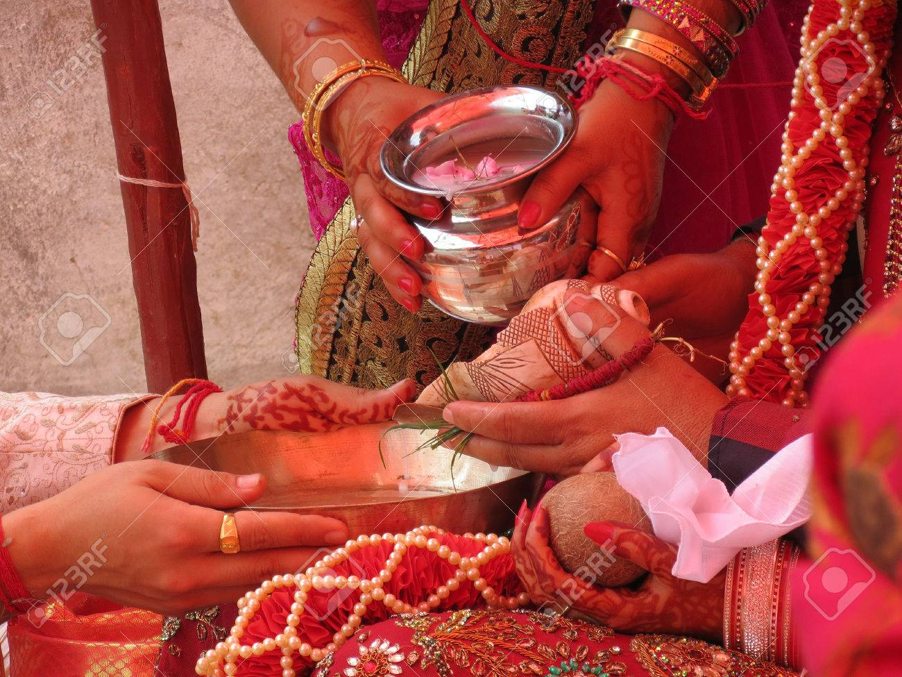 Kanyadaan Gift Of A Maiden Ritual Of Handing Over Bride By Stock