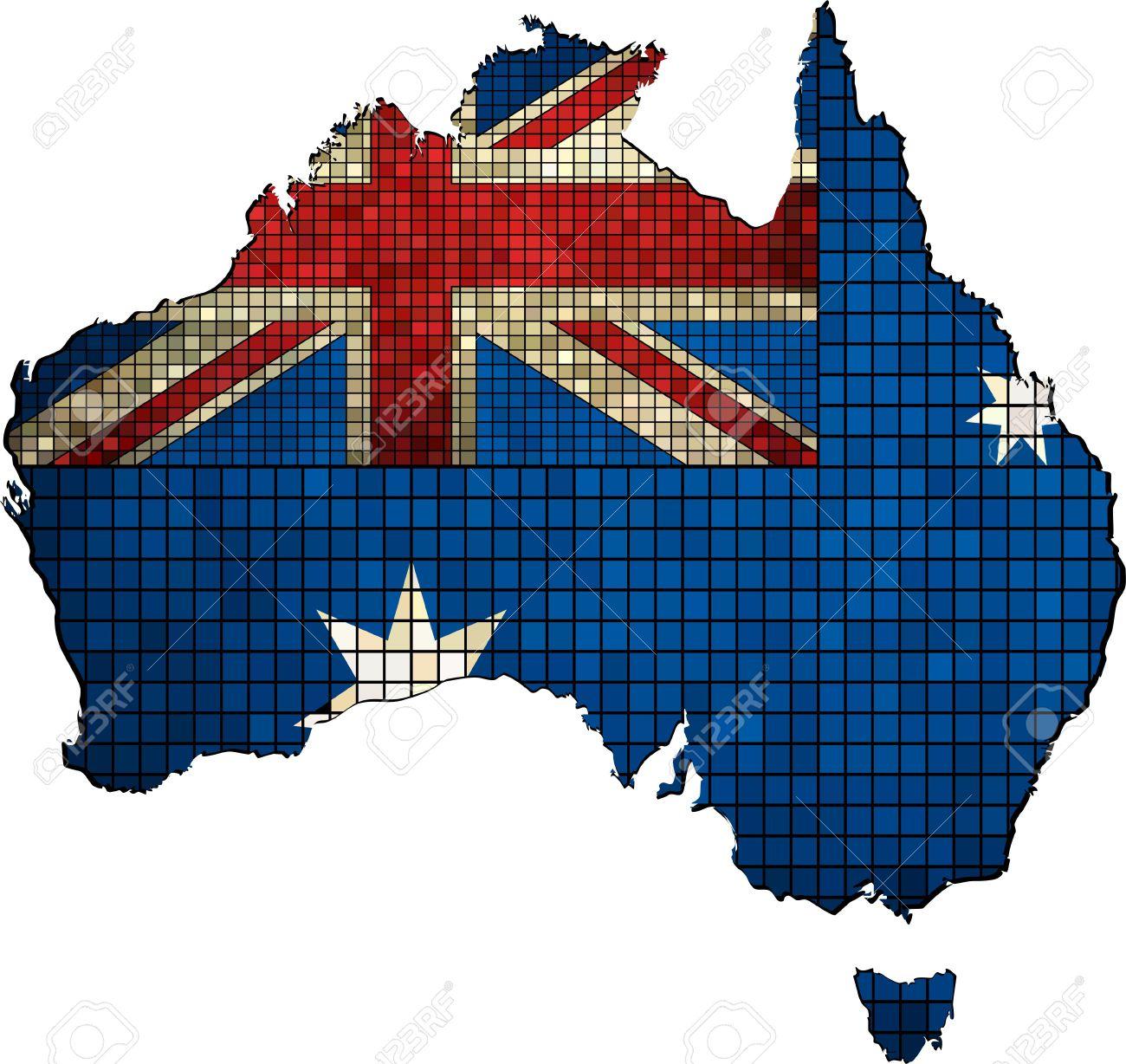 Carte Australie Drapeau.Carte De L Australie Avec Le Drapeau A L Interieur Australien Carte Grunge Mosaique Carte De L Australie Australie Carte Australie Carte De Drapeau