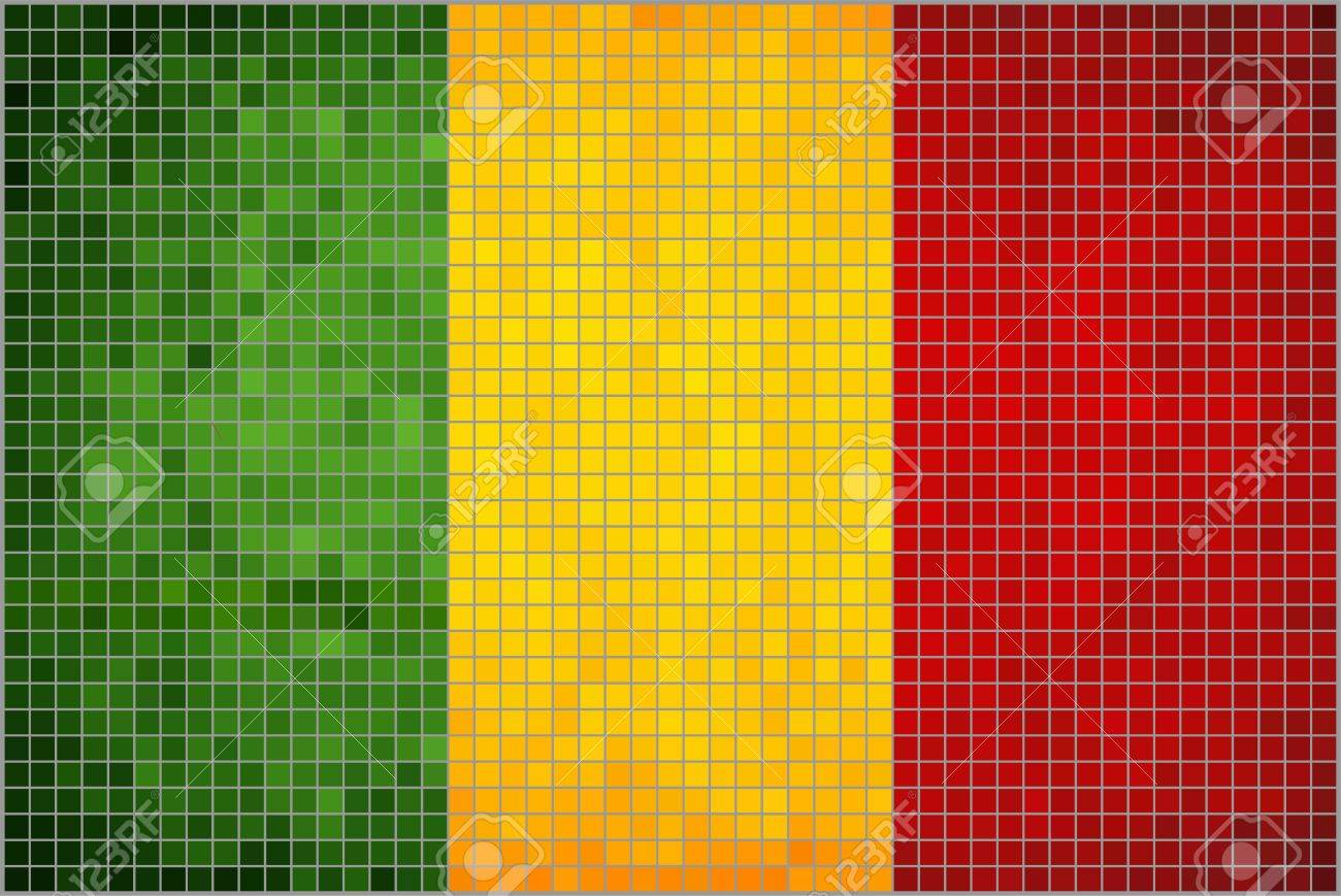 Abstract Mosaic Flag Of Mali Mali Flag Pictures And Vector - Mali flags