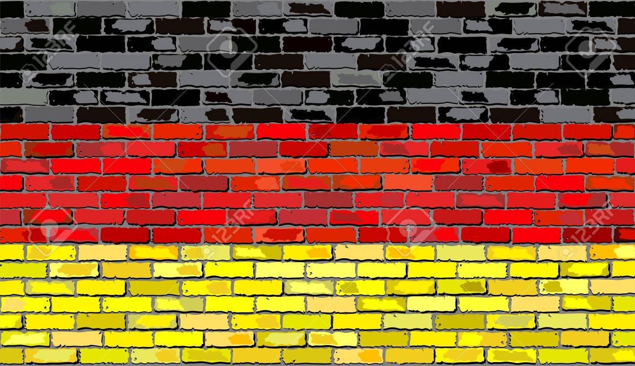 grunge bandera de alemania en una pared de ladrillo bandera deutschland el ladrillo con