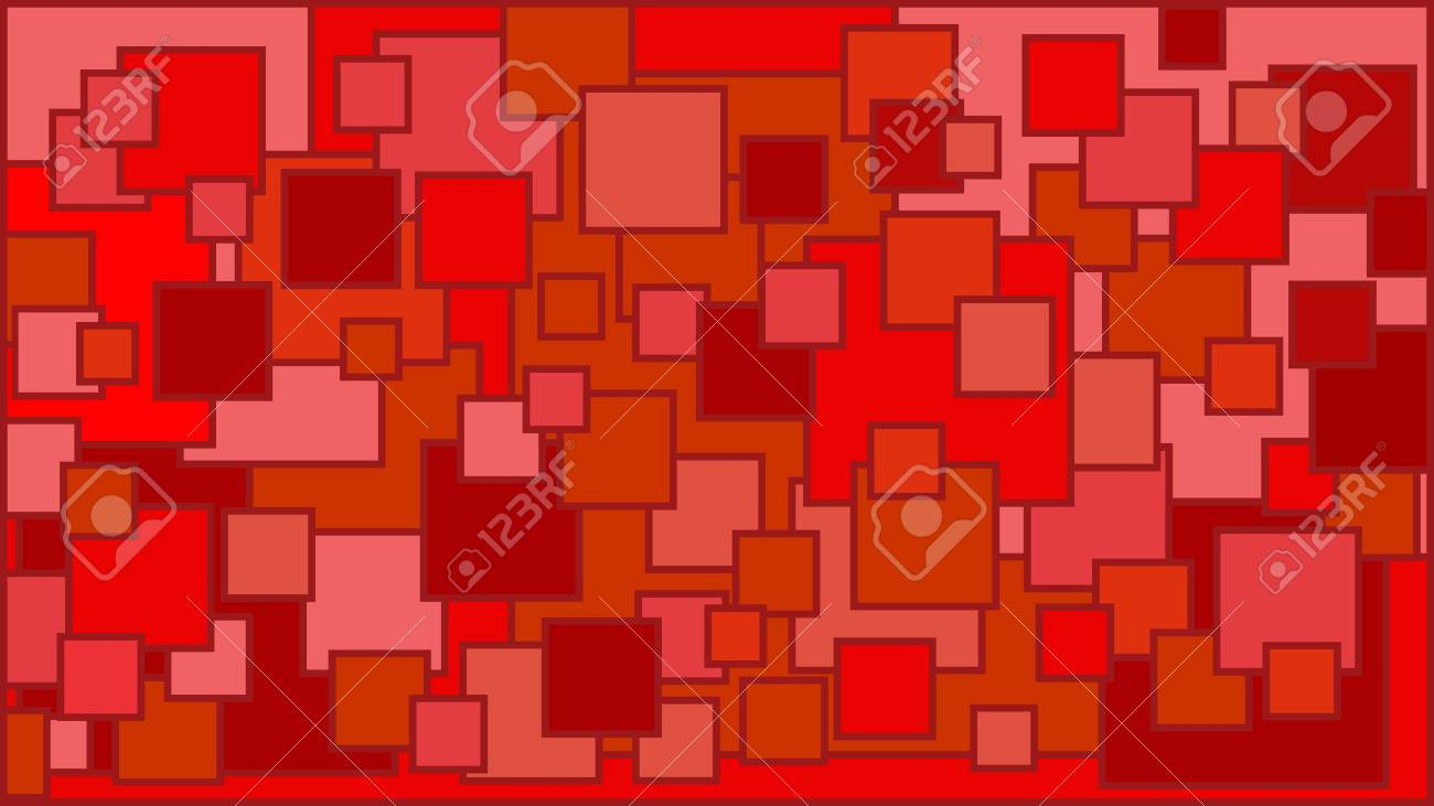5a1a68622fc6 Squares In Various Shades Of Red Background - Illustration ...