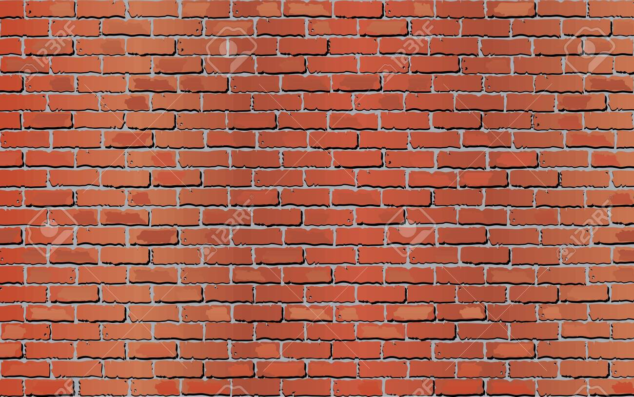 Shiny Wall of bricks - Illustration, Grunge abstract vector illustration - 121916679