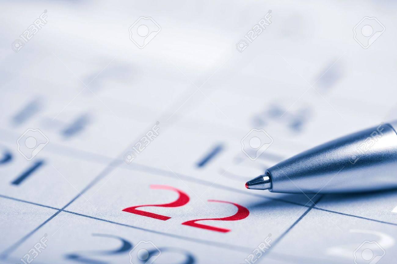 closeup of calendar page Stock Photo - 4586524