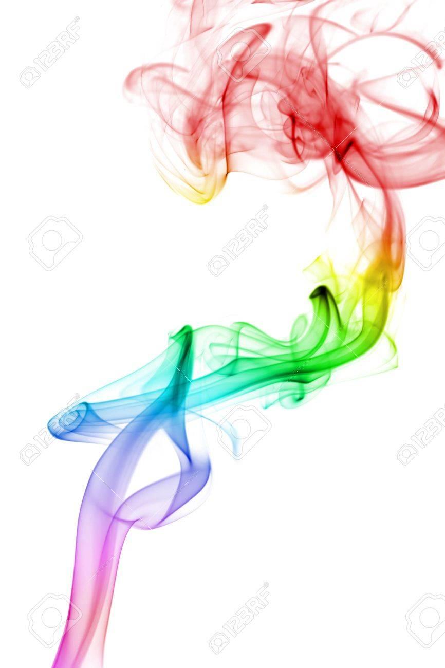 abstract rainbow smoke background Stock Photo - 4692564
